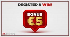 Meridianbet: Εγγραφείτε τώρα και λάβετε αυτόματα 5 ευρώ Μπόνους!!!