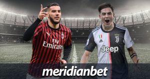 Meridianbet: Milan vs Juventus!